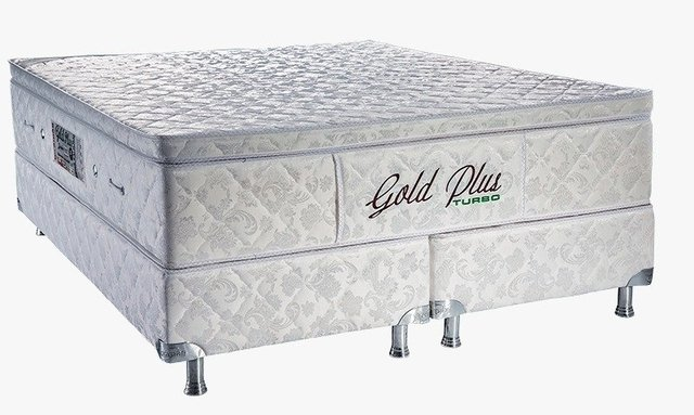 Gold Plus com Base Box e Vibromassagem Casal 1,58 x 1,98 x 65 cm
