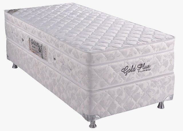 Gold Plus com Base Box e Vibromassagem Solteiro 0,78 x 1,88 x 65 cm