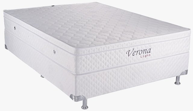 Verona Light com Base Box e Vibromassagem Casal 1,58 x 1,98 x 55 cm