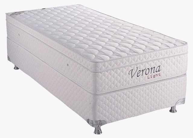 Verona Light com Base Box e Vibromassagem Solteiro 0,88 x 1,88 x 55 cm