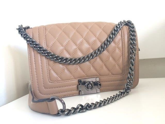 6804517af Bolsa Inspired Chanel Cappuccino