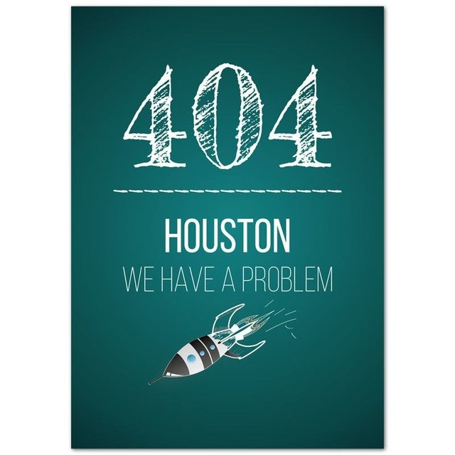 Pôster 404 HOUSTON WE HAVE A PROBLEM na internet