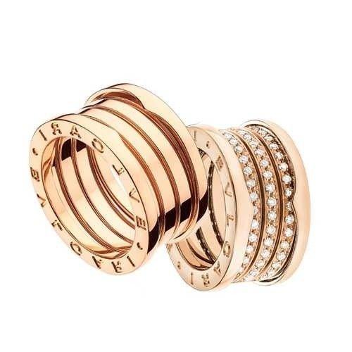 Anel Aliança Modelo Bvlgari Em Ouro 18k E Diamantes Modelo  JC00006 9f7b2538a8