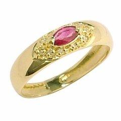 621129e2e72e0 Anel Em Ouro 18k Com Rubi E Diamantes - Cwb Joias Modelo  JC00350