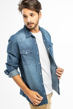 CAMISA MANGA LARGA HARRIS BLUE - Soho Denim