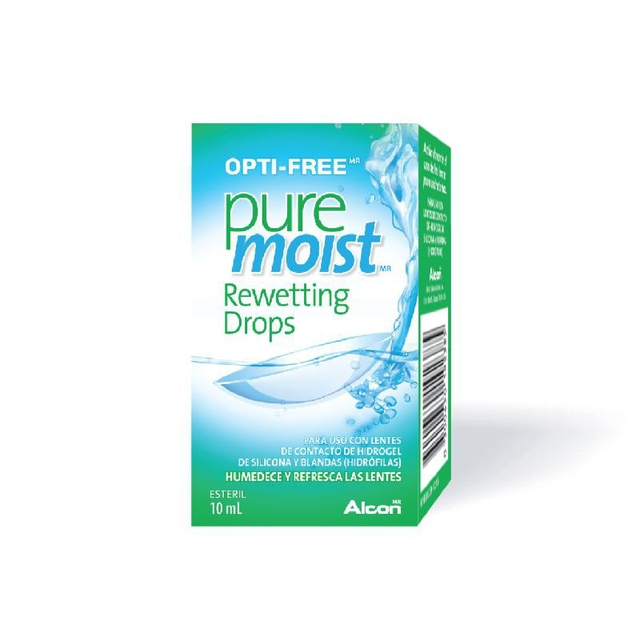 OPTI FREE PURE MOIST REWETTING DROPS x 10ml