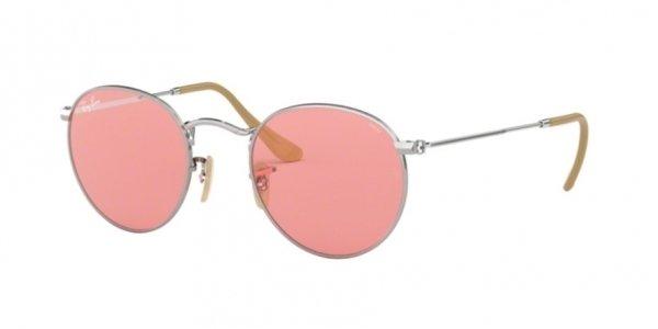 ray ban 3447 round metal espejado rosa