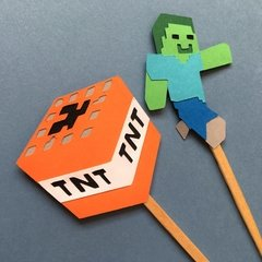 Toppers - Minecraft - 12 unidades na internet
