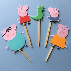 Toppers - Peppa Pig - 15 unidades
