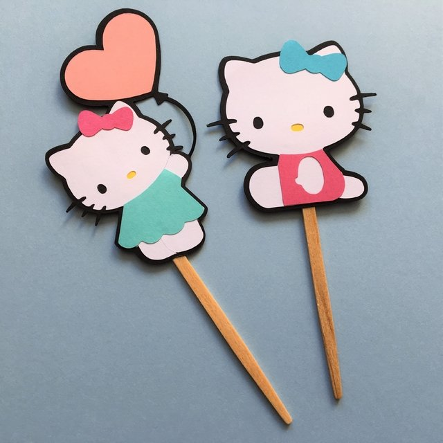 Toppers - Hello Kitty - 10 unidades - comprar online