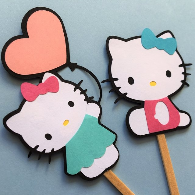 Toppers - Hello Kitty - 10 unidades