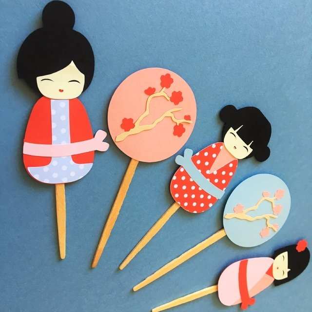 Toppers - Kokeshi - 12 unidades - comprar online