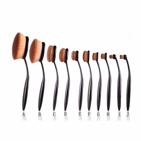 Kit 10 Pincéis Oval Brush na internet