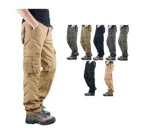 Pantalon Cargo Hombre Man New Wave Full Gabardina