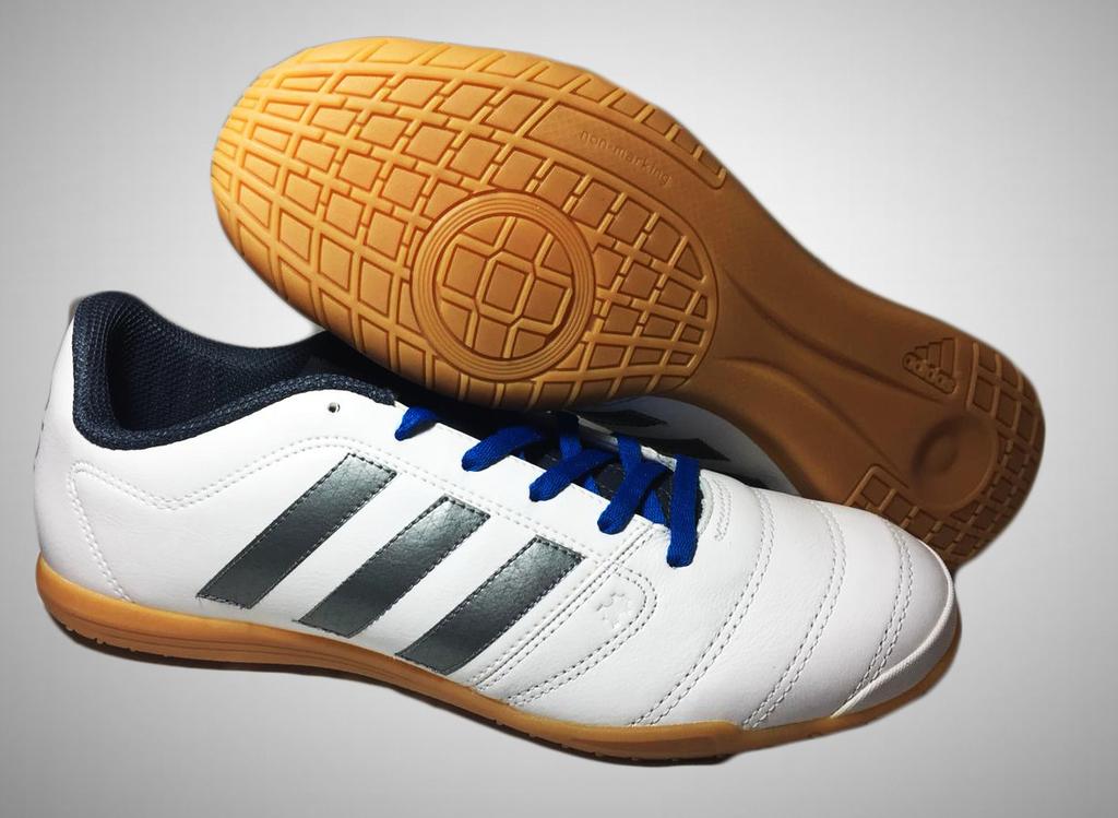 b134a7a8a5 Chuteira Futsal Adidas Gloro 16.2 IN Masculina - Branco e Azul