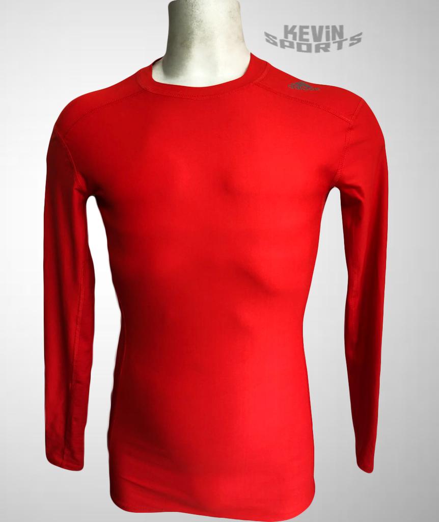 30135f8bc7439 Camiseta Adidas Techfit Chill - Manga Longa - Laranja
