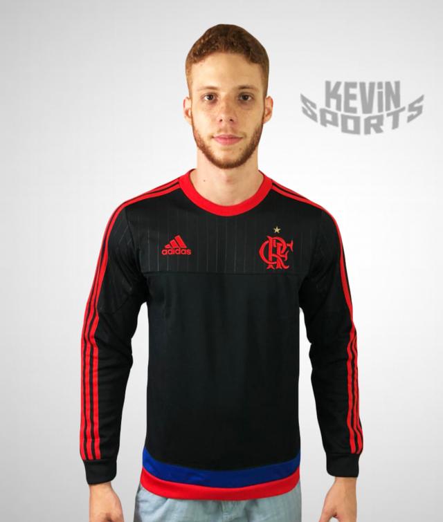 aac0fe915f8 Casaco Moletom Flamengo Adidas Rio450 Anos.