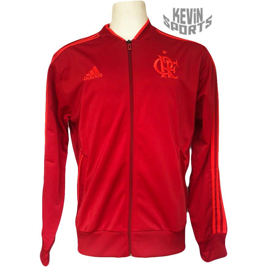 Jaqueta Flamengo Adidas PES Vermelha 2018 9325dc52309ff