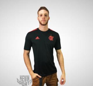 Camisa Flamengo Adidas Rubro Negra Jogo 1 2016 2017 Modelo Jogador e057e2e0d4101