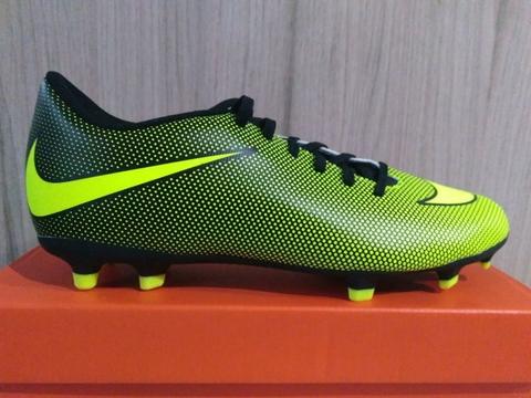 abffd96800c78 Chuteira Nike Bravata II FG Verde/Preta - Campo
