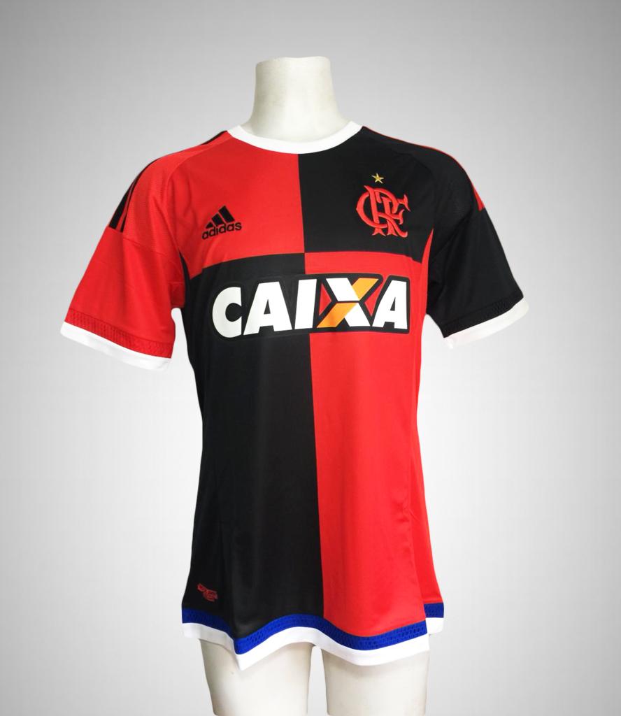 9954d06cbbdbf Camisa Papagaio VIntém Flamengo 2015 III Uniforme