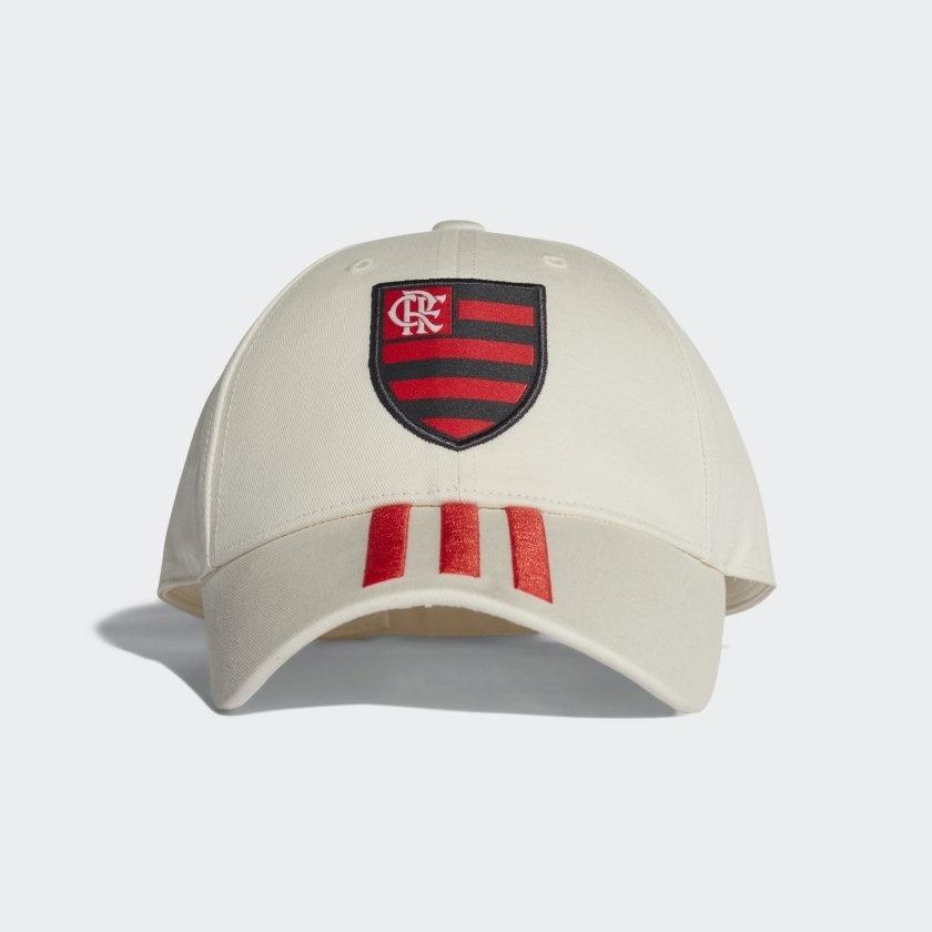77918d77db4d0 Boné Flamengo Adidas Branco 3Stripes - Kevin Sports