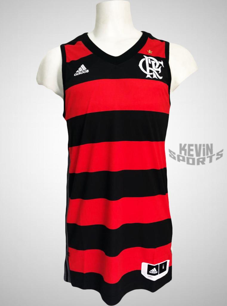 Camisa Adidas Flamengo Regata Basquete Oficial d173b97db86da