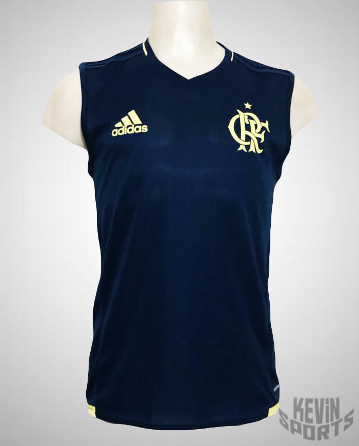 7cc05fde7d970 Camiseta Regata Flamengo Adidas Treino Masculina - Azul