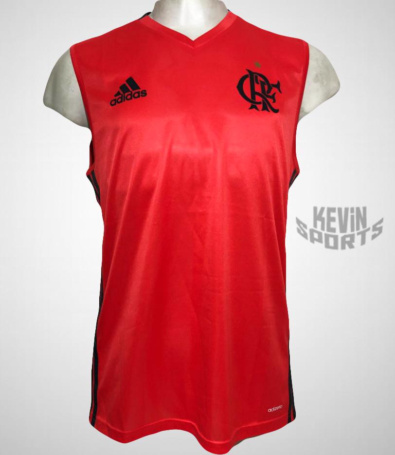 Camiseta Regata Flamengo Adidas Treino Masculina - Vermelho Claro e Chumbo 768f195f84456
