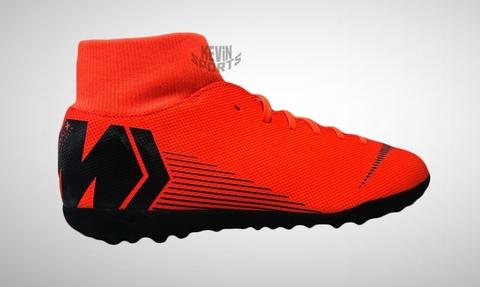 Chuteira Society Nike Mercurial Superfly 6 Club Masculina - Laranja e Preto d62727b2b793d