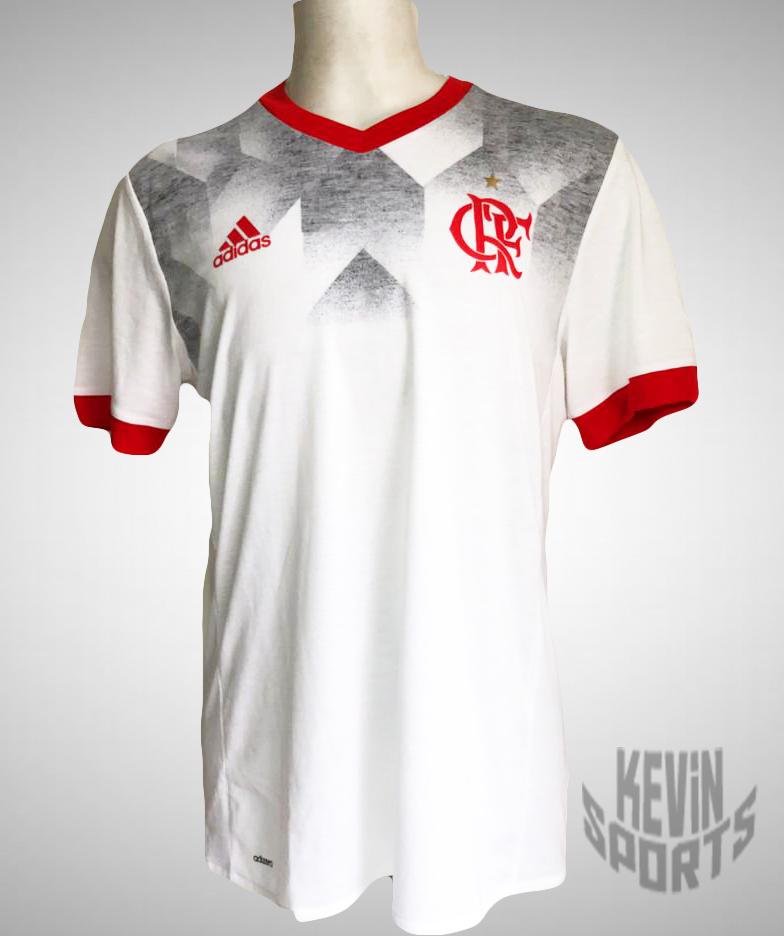 7e7a6f7967ca1 Camisa Flamengo Pré Jogo Adidas - Branco e Vermelho