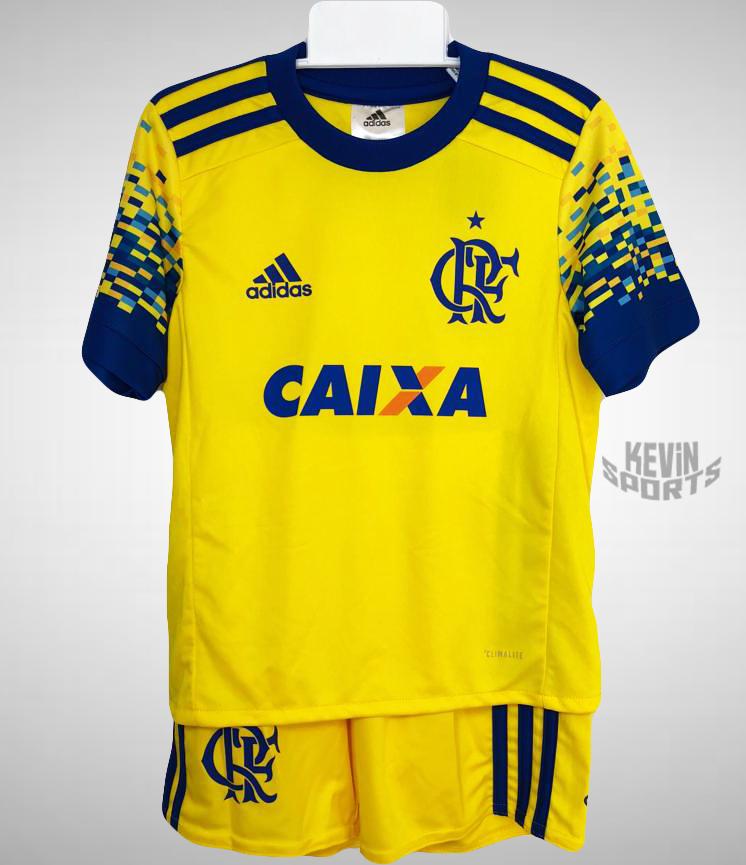209843d83a Kit Flamengo Infantil III 17 18 Adidas - Amarelo