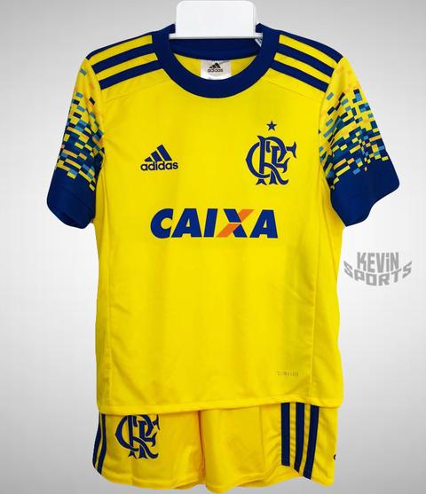 Kit Flamengo Infantil III 17 18 Adidas - Amarelo 2c4b1c0717141