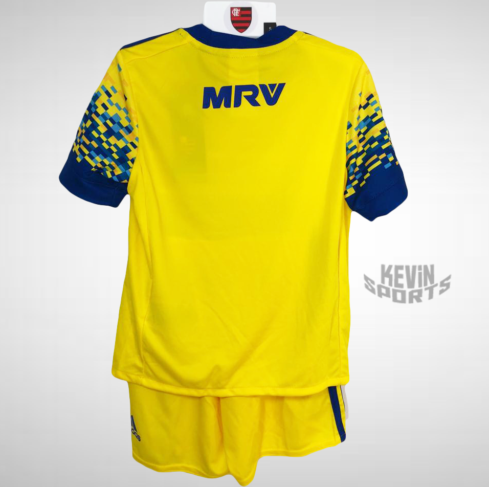 Kit Flamengo Infantil III 17 18 Adidas - Amarelo - comprar online 293eea621e2a7