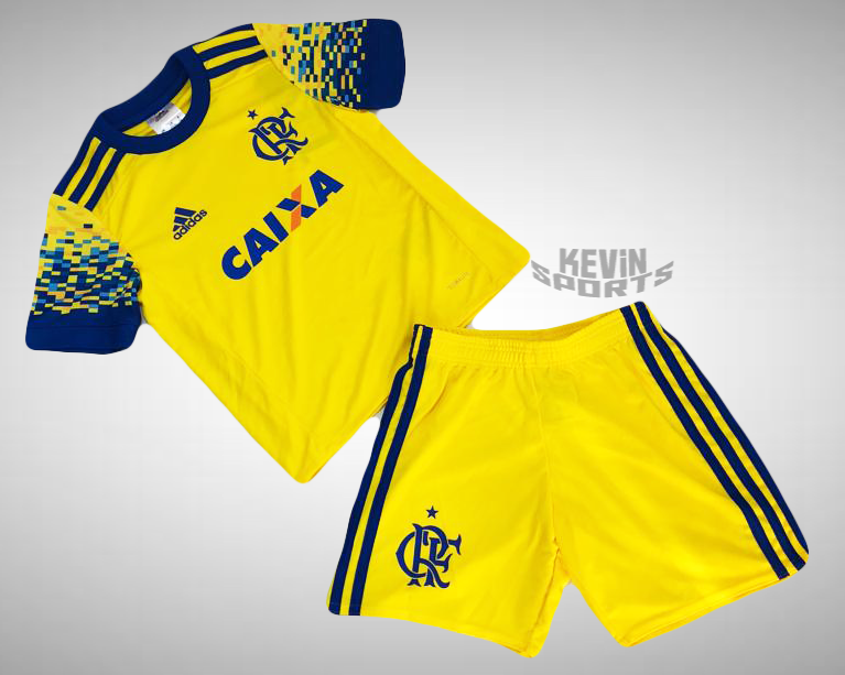 Kit Flamengo Infantil III 17 18 Adidas - Amarelo na internet 95121cc6e1fbb