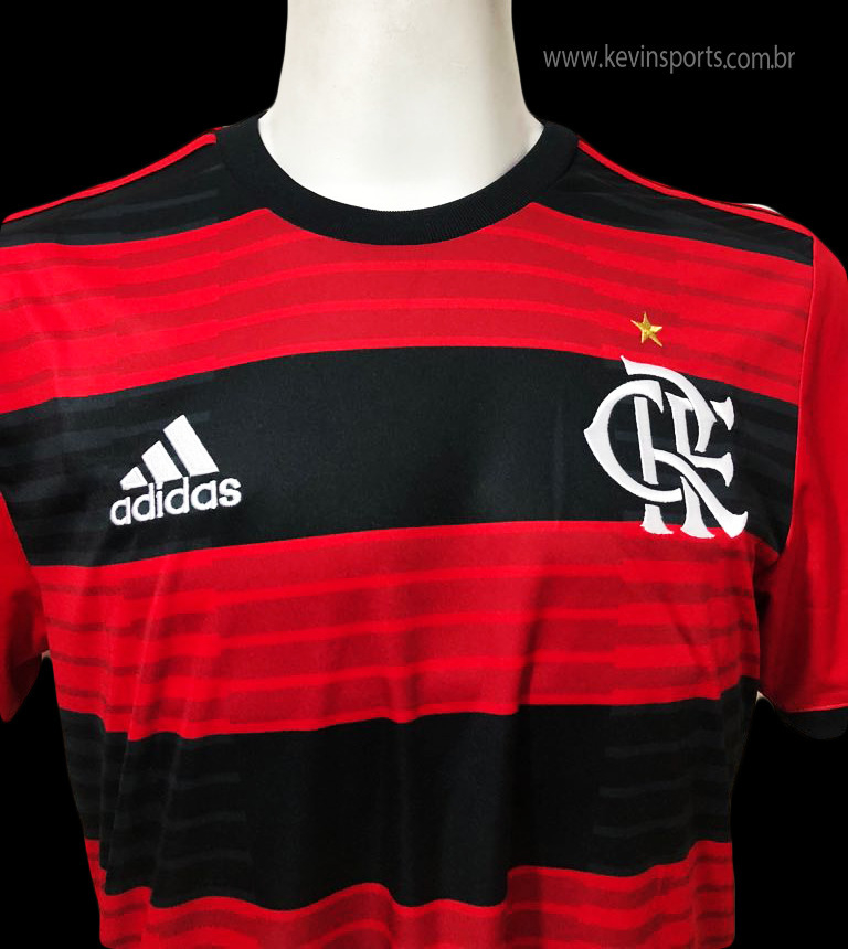 1f75658ae5698 Camisa Flamengo Adidas I 2018 Rubro-Negra - Kevin Sports