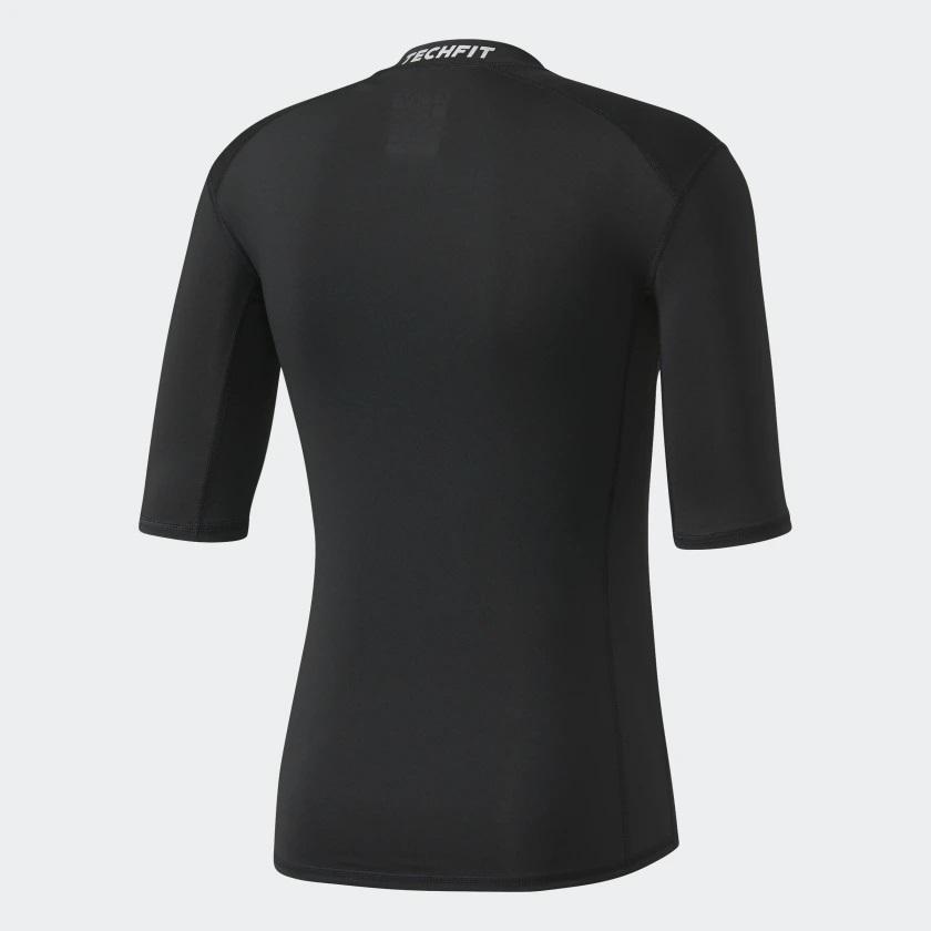 ba11506632c66 Camisa Térmica Adidas Techfit Base Preta - comprar online