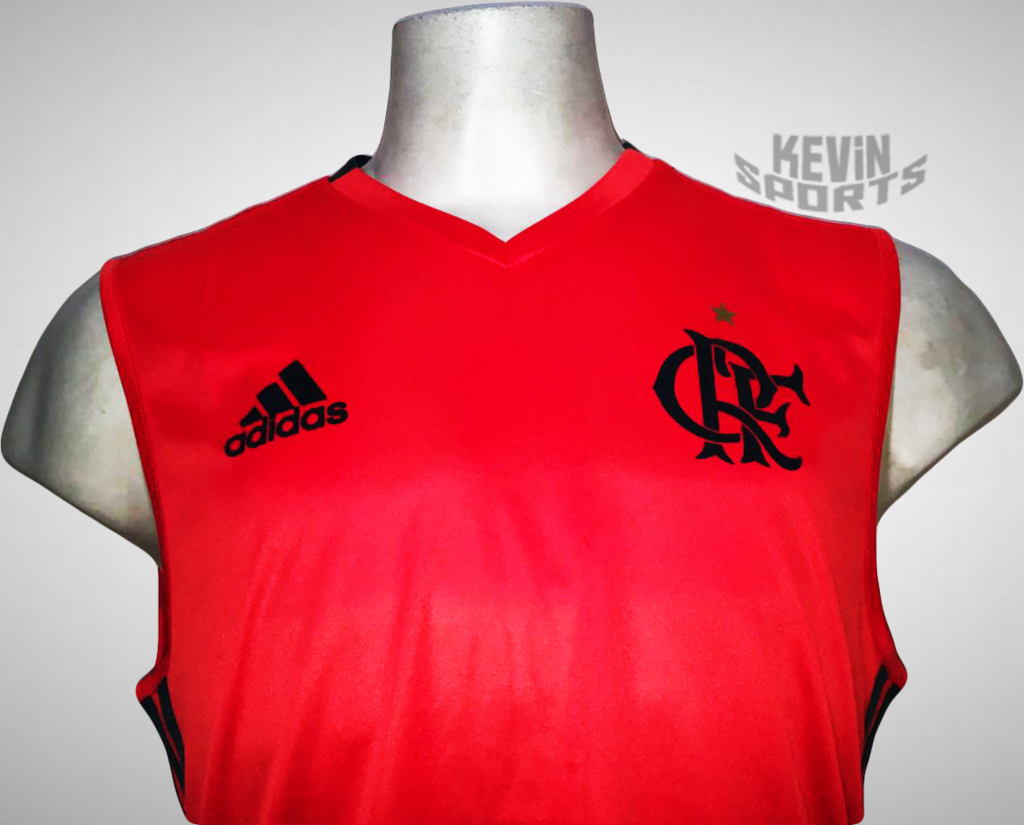 Camiseta Regata Flamengo Adidas Treino Masculina - Vermelho Claro e Chumbo  - comprar online fe2812127f3d3