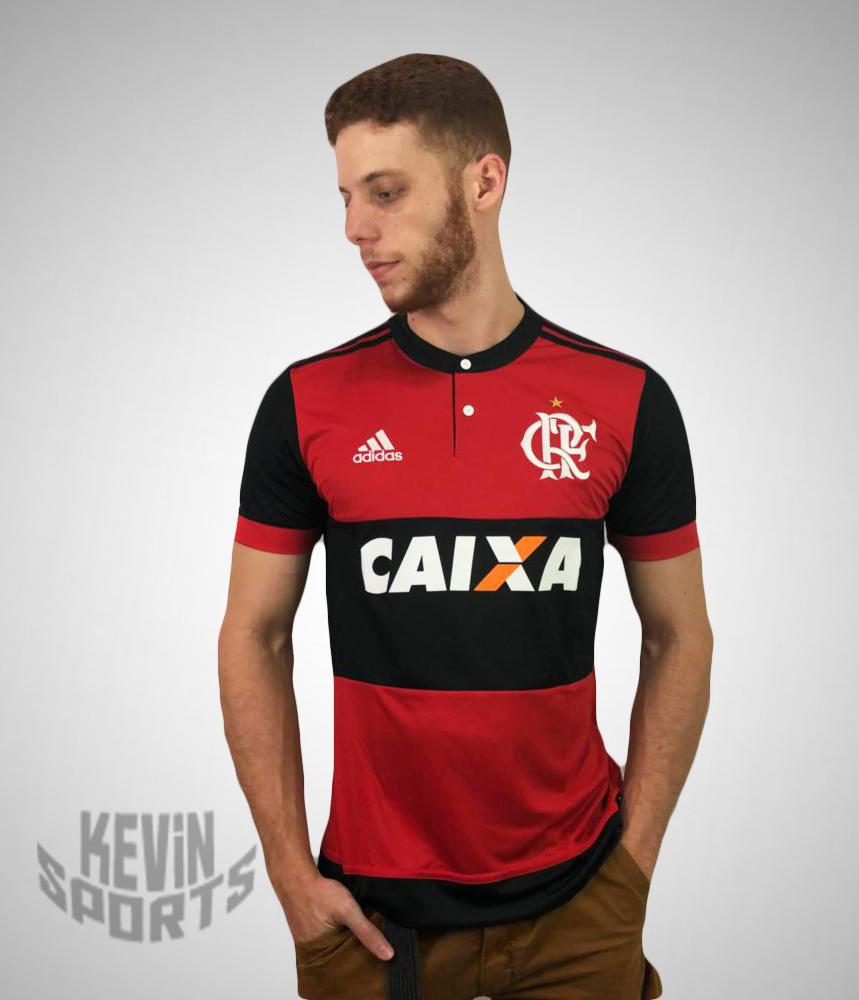 de4694a4b Camisa do Flamengo Rubro Negra 2017-2018 - Com Patrocínio - comprar online