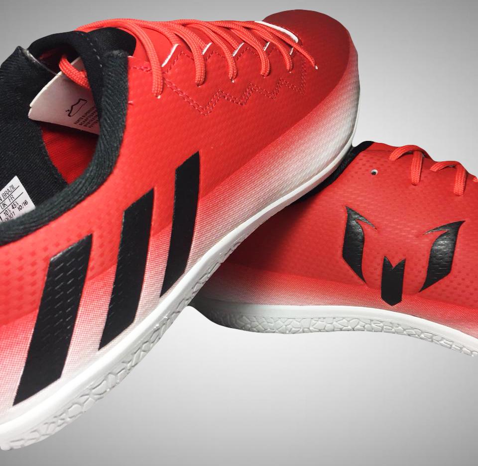 03c604f3e4 Chuteira Futsal Adidas Messi 16.3 IN Masculina - Vermelho e Branco