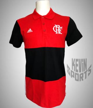 Camisa Polo Flamengo Adidas 3S Masculina - Vermelho e Preto 9e58dc962f32c