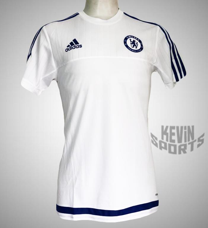 Camisa de treino Adidas Chelsea - Branco e Marinho 33640ecebd582