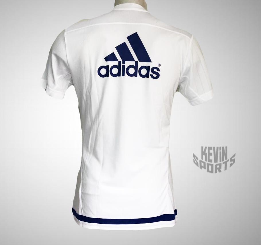 Camisa de treino Adidas Chelsea - Branco e Marinho - Kevin Sports c1377053e7e76