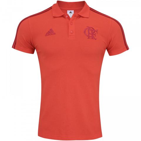Camisa Polo Flamengo Adidas 3S 2018 b59d91749d10e