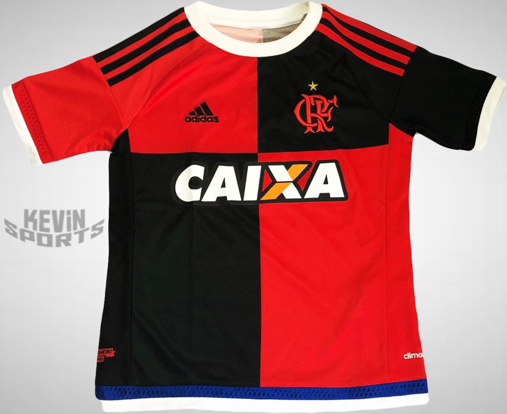 23bee73852613 Camisa Papagaio VIntém Infantil Flamengo 2015 III Uniforme