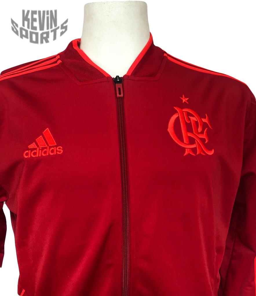 Jaqueta Flamengo Adidas PES Vermelha 2018 - Kevin Sports 5265018feec8d