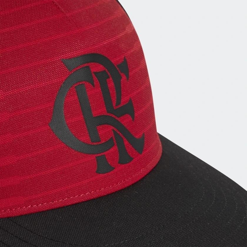 Boné Flamengo Adidas Preto   Vermelho - Kevin Sports d3971a080cb