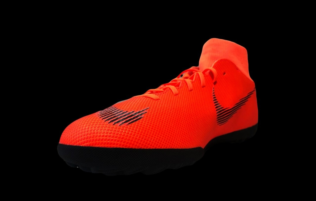 24d4e61527 Chuteira Society Nike Mercurial Superfly 6 Club Masculina - Laranja e Preto  - Kevin Sports