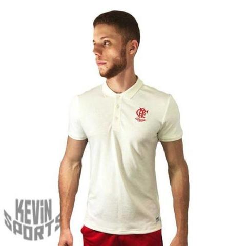 e08db01a1 Camisa Polo Flamengo Adidas Rio 450 anos Bege