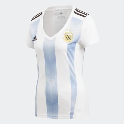 80a8947b0c5fb Camisa Argentina Feminina Adidas Oficial 2018 BQ9302
